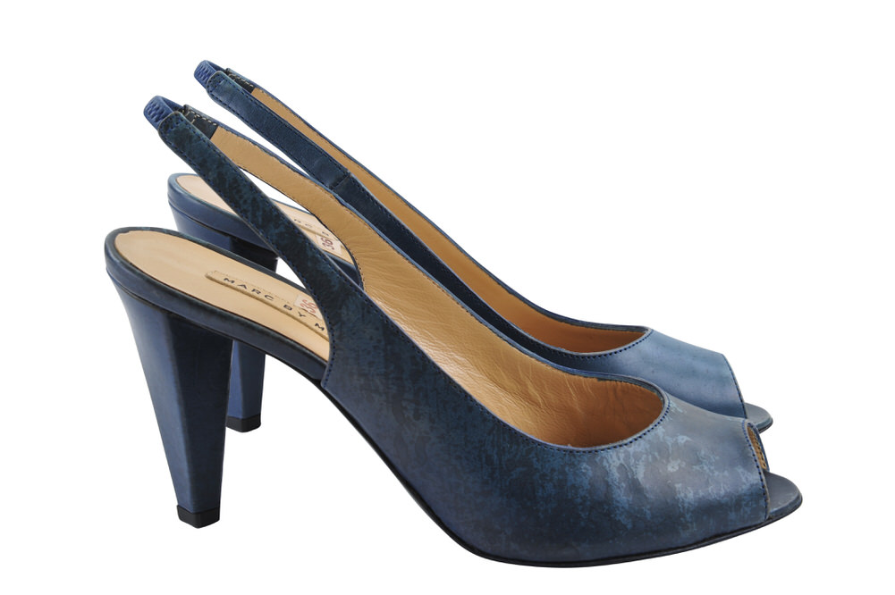 marc by marc jacobs shoes women smooth leather 38 5 slingback green ebay. Black Bedroom Furniture Sets. Home Design Ideas