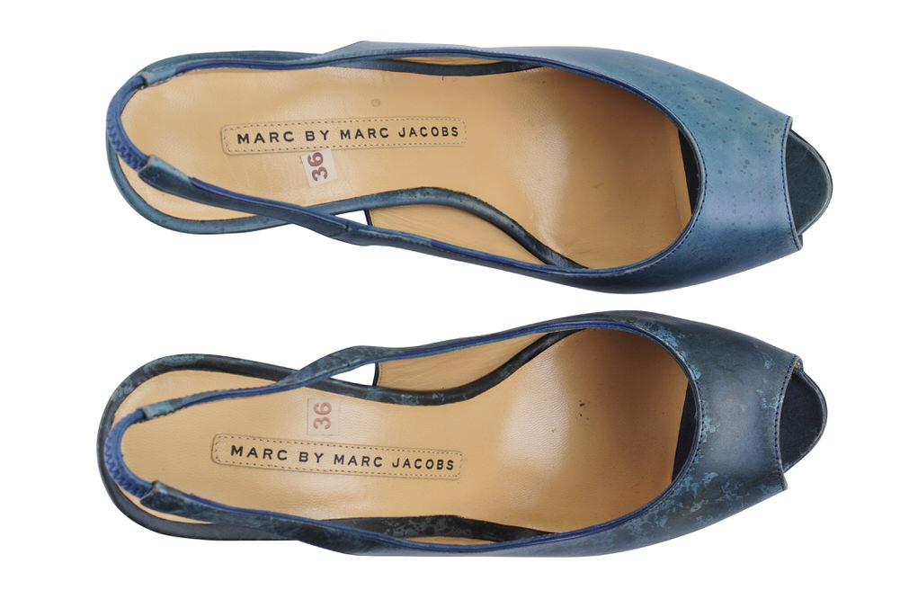 marc by marc jacobs shoes women smooth leather 36 slingback green ebay. Black Bedroom Furniture Sets. Home Design Ideas