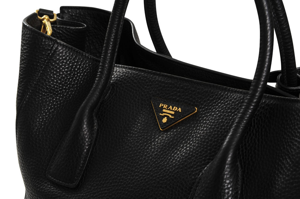 prada sac shopper handbag veau schwarz ebay. Black Bedroom Furniture Sets. Home Design Ideas