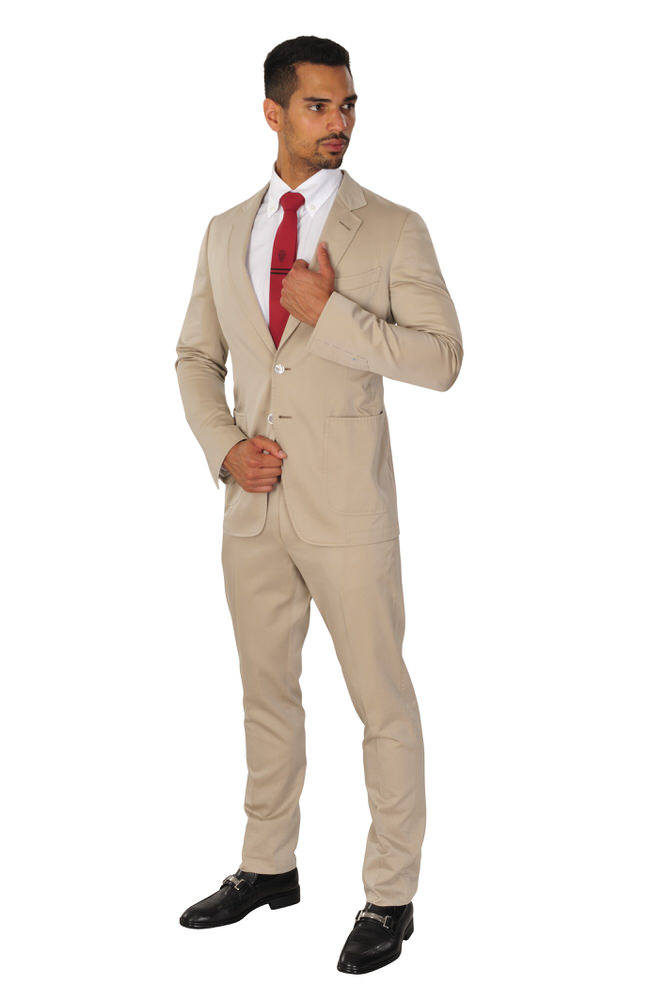 tom ford suit men 56l beige 100 cotton plain ebay. Black Bedroom Furniture Sets. Home Design Ideas