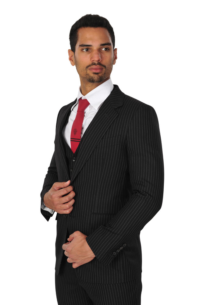 tom ford suit men 48r black 100 wool striped ebay. Black Bedroom Furniture Sets. Home Design Ideas