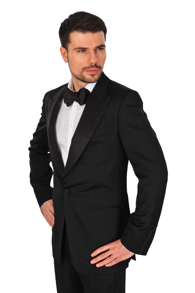 4200 tom ford suit men 50l black wool mohair plain ebay. Black Bedroom Furniture Sets. Home Design Ideas