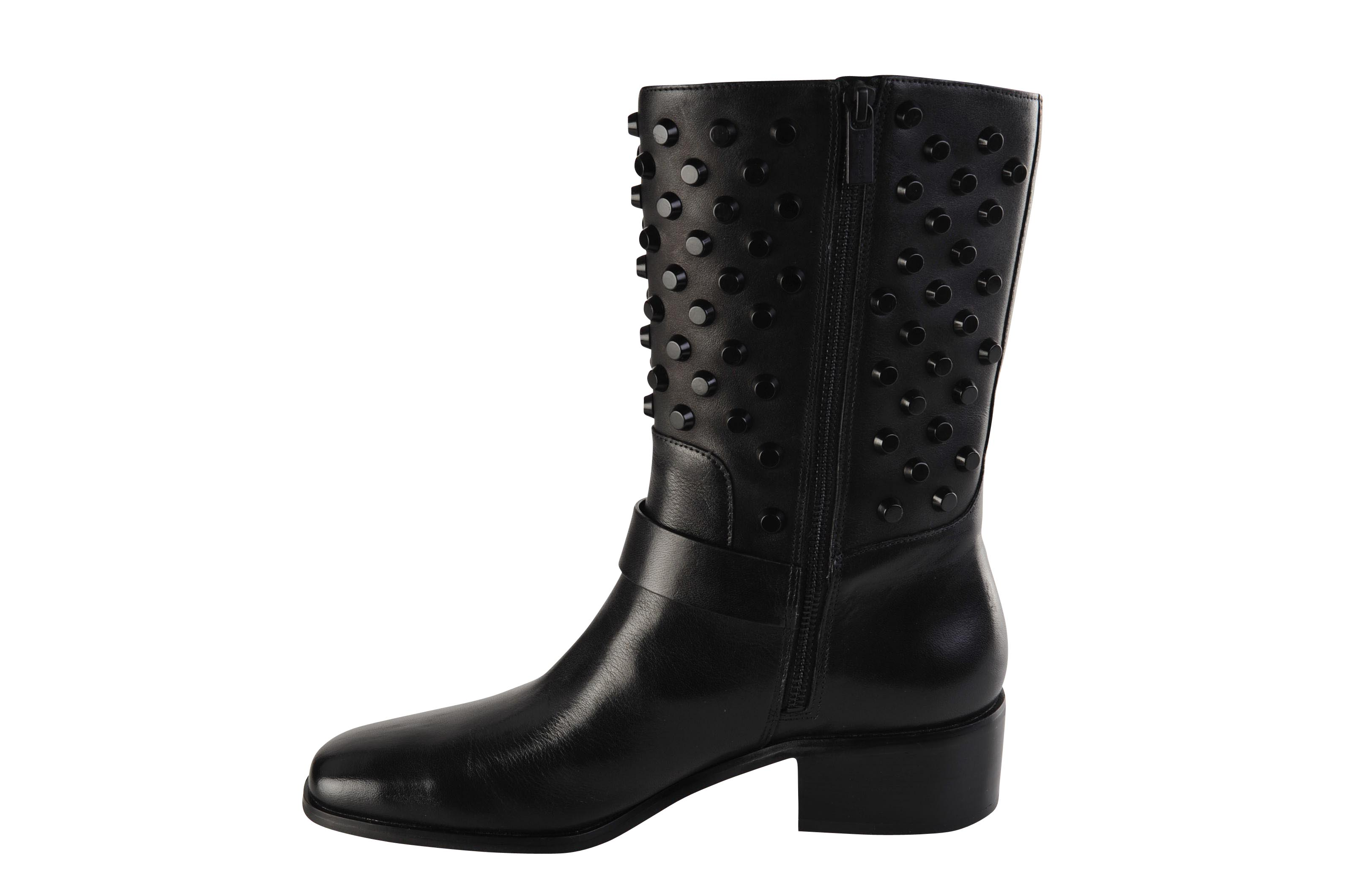 michael kors shoes women smooth leather 40 slouch boots black ebay. Black Bedroom Furniture Sets. Home Design Ideas