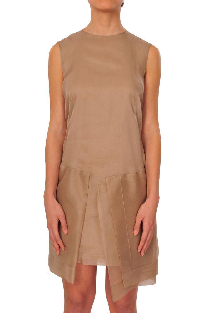 Brunello Cucinelli Kleid Damen A-Line M IT Hellbraun Einfarbig   eBay 55f05c1cbd