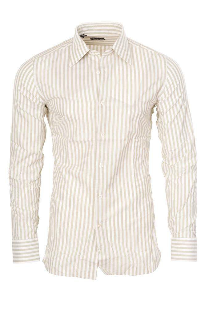 tom ford shirt homme 39 gris cotton rayures ebay. Black Bedroom Furniture Sets. Home Design Ideas