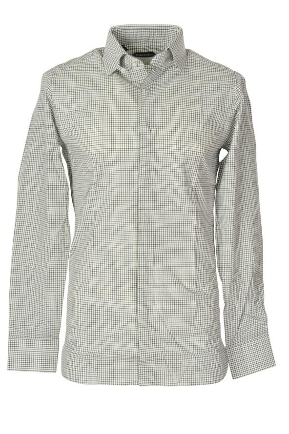 tom ford shirt homme 39 vert cotton carreaux ebay. Black Bedroom Furniture Sets. Home Design Ideas