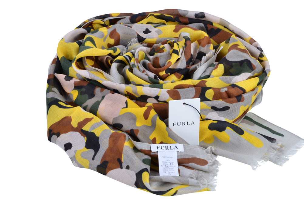 furla scarf modal silk 70 cm x 200 cm ebay. Black Bedroom Furniture Sets. Home Design Ideas