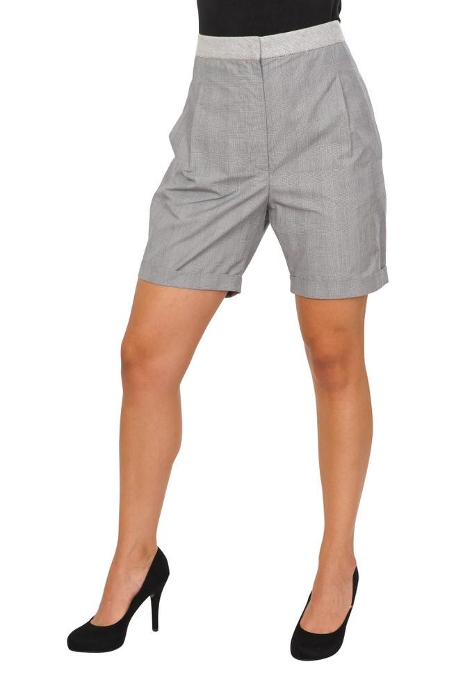 Brunello Cucinelli Shorts - Damen 46 IT Regular Fit Grau Baumwolle ... bdd093e7c3