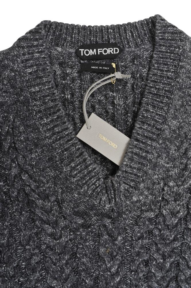 tom ford pullover herren 46 grau kaschmir gestrickt ebay. Black Bedroom Furniture Sets. Home Design Ideas