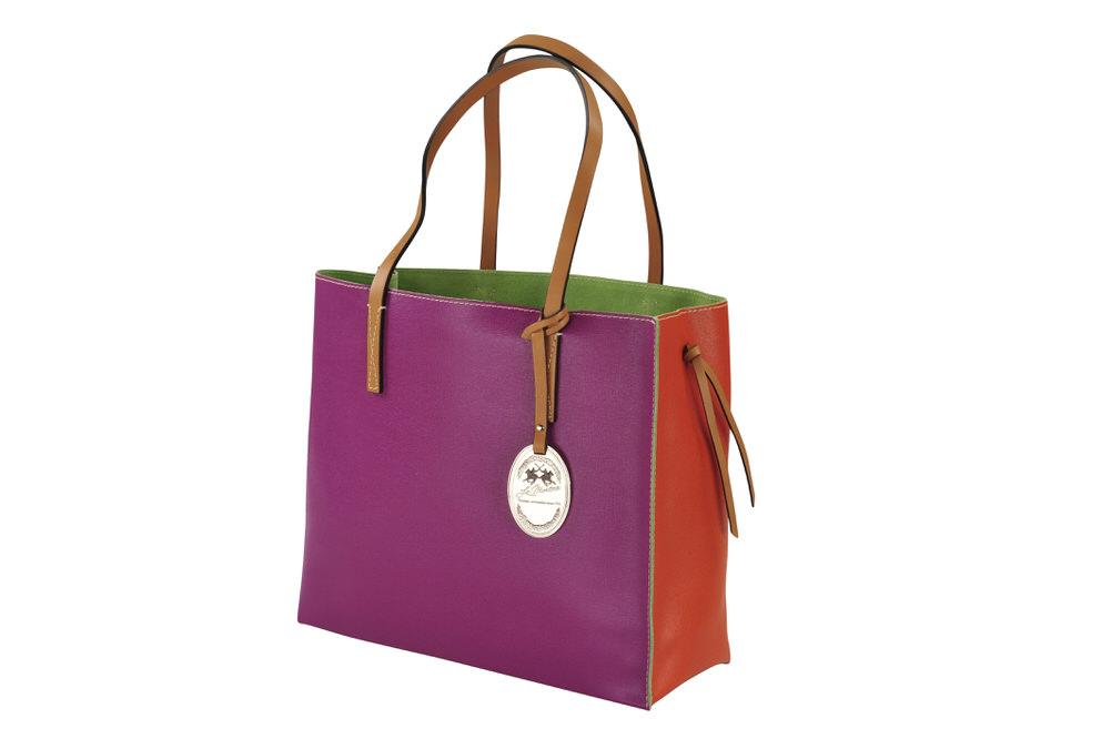 la martina tasche handtasche saffiano leder orange. Black Bedroom Furniture Sets. Home Design Ideas