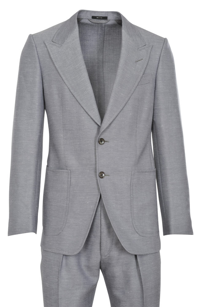 tom ford suit men 39 s 46r us size 36 gray wolle 42 twill ebay. Black Bedroom Furniture Sets. Home Design Ideas