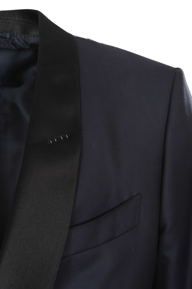 tom ford suit men 39 s 56rr dark blue plain ebay. Black Bedroom Furniture Sets. Home Design Ideas