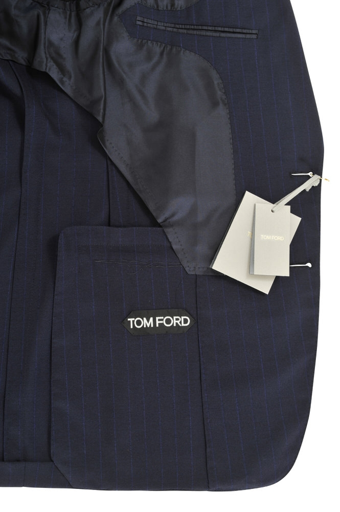 tom ford suit men 39 s 46r dark blue striped ebay. Black Bedroom Furniture Sets. Home Design Ideas