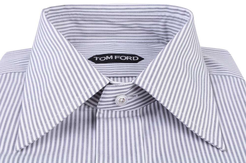 tom ford shirt men 39 s 40 dark grey cotton striped ebay. Black Bedroom Furniture Sets. Home Design Ideas