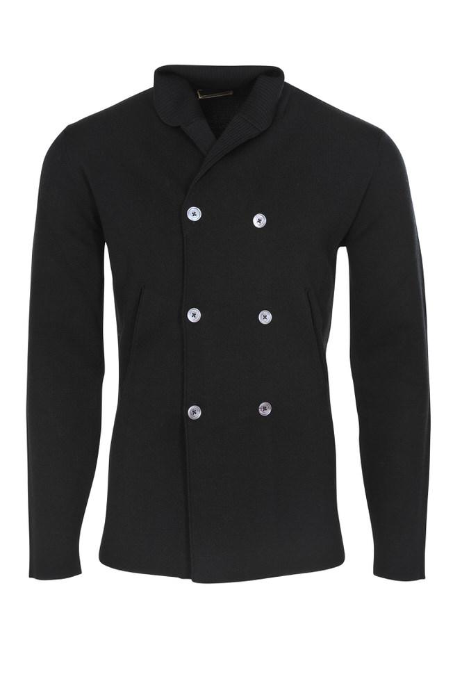 Black wool mantel