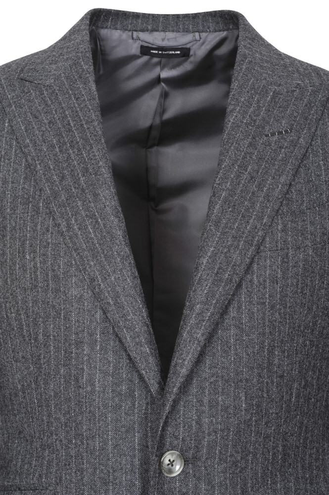 tom ford suit men 39 s 46r us size 36 gray striped ebay. Black Bedroom Furniture Sets. Home Design Ideas