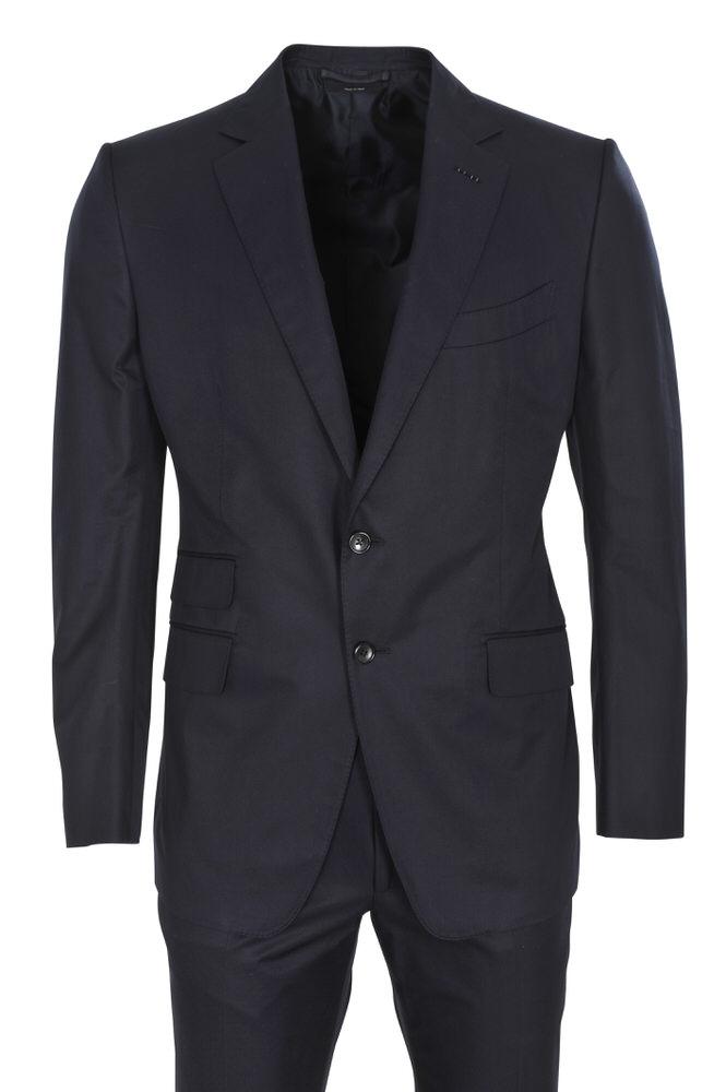 tom ford suit men 39 s 54r dark blue plain ebay. Black Bedroom Furniture Sets. Home Design Ideas