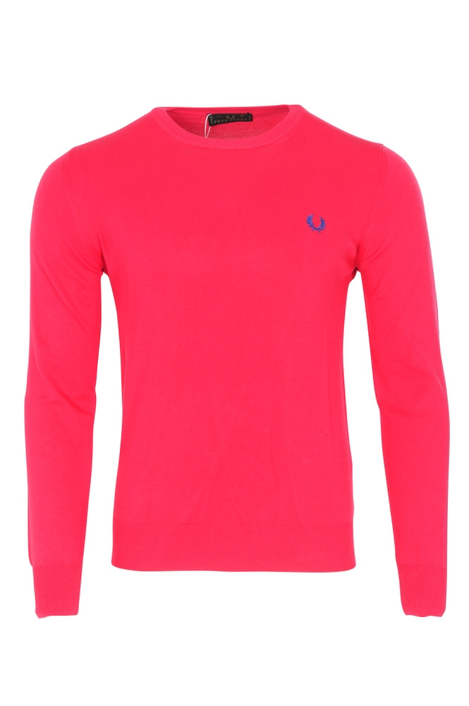 fred perry pullover men 39 s m pink wool knitted ebay. Black Bedroom Furniture Sets. Home Design Ideas