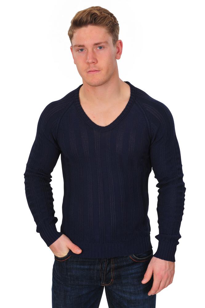 3c99ec272840 Zanone Pullover Herren 50 Dunkelblau Baumwolle Einfarbig   eBay