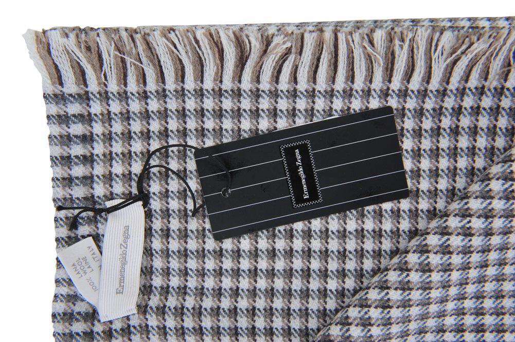 ermenegildo zegna checkered schal wolle 184 cm x 54 cm ebay. Black Bedroom Furniture Sets. Home Design Ideas