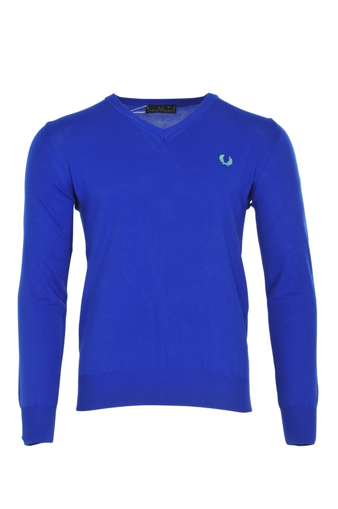 fred perry pullover herren m blau baumwolle gestrickt ebay. Black Bedroom Furniture Sets. Home Design Ideas