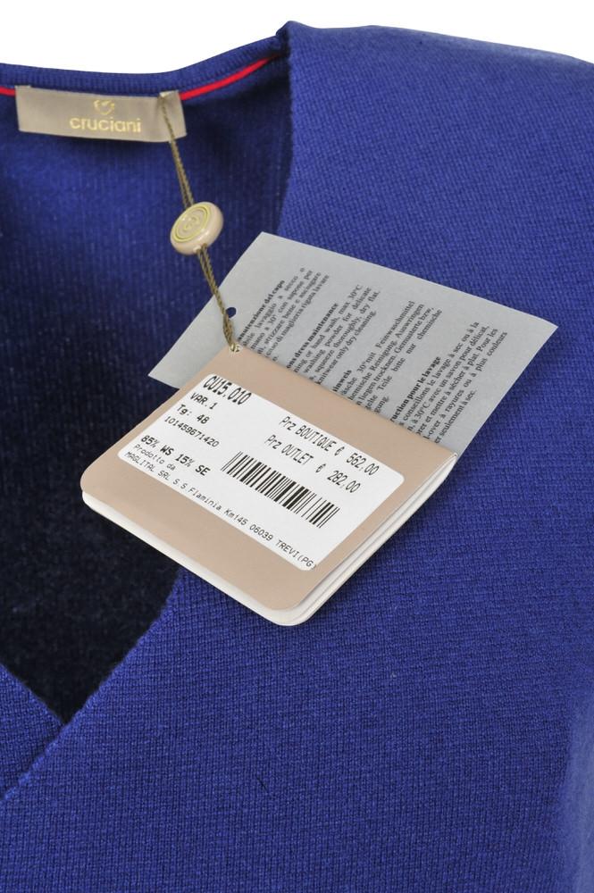quality design 04e6e 75eb4 Detalles de Cruciani Chaleco Hombre 48 Azul cachemira tejido